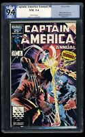 Captain America Annual #8 PGX NM 9.4 White Pages Wolverine!
