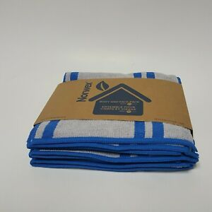 Norwex BODY AND FACE PACK - Varsity Blue and Gray Stripe (3 cloths)