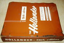 26th Hollander Parts Interchange Manual 1950-1960 Chevy Olds Ford Lincoln EXCELL