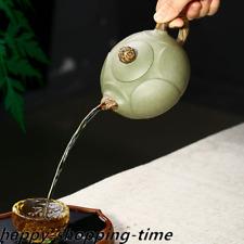 full handmade tea pot real yixing zisha marked pot lotus design Chinese tea pots