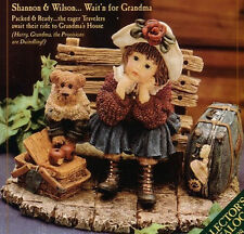 "BOYDS  YESTERDAY'S CHILD""SHANNON & WILSON WAIT'N FOR GRANDMA"" 3533 MINT IN BOX"