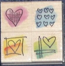 "HERO ARTS ""LITTLE SKETCH HEARTS"" RUBBER STAMP"