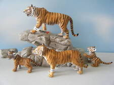 SCHLEICH TIGER #14369 TIGRESS #14370 TWO CUBS #14371 & #14372 FAMILY OF 4 LOT