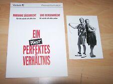 EIN FAST PERFEKTES VERHÄLTNIS - Presseheft ´94 + 1 PF - SÄGEBRECHT Ochsenknecht