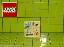 Lego Square Printed Map Tile 2x2 NEW