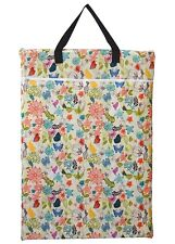 1 Large Hanging Wet/Dry Pail Bag Cloth Diaper,Insert,Nappy,Laundry Flowers Bloom