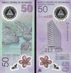 Nicaragua : 50 Cordobas (2010) P-207 (Commemorative) Polymer UNC