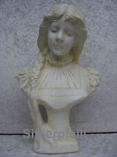 Büste Helena Frauenbüste Kopf Figur Frau Stuckgips Säule Statue Deko Crem 2021