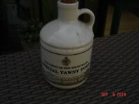 VINTAGE STONEWARE   -PORT BOTTLE - tyrrells parliament of nsw special collectors