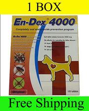 1 Box Pet tablet pill En-Dex 4000 Remove Prevent Ticks and Fleas for Cats & Dogs