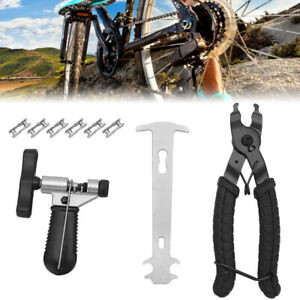 Fahrrad Reparatur Fahrrad Link Kettenschloss Set Zange Ketten Werkzeug  Prüfer