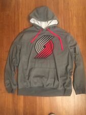 Portland Trail Blazers Hoodie Fanatics NBA Gray Size XXL