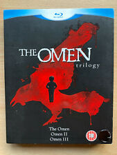 The Omen Trilogy Blu-ray Box Set Damien Horror Movie Classic 1 2 3 w/ Slipcover
