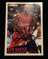 RON HARPER 1994-95 FLEER Autographed Signed BASKETBALL Card CLIPPERS 100