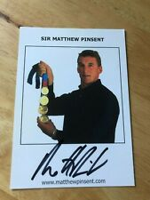 Sir Matthew Pinsent Olympc Rower Gold Medallist Signed picture / autograph