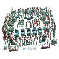 4cm Action Figures Army Men Soldier Military Playset with Vehicles 307pcs