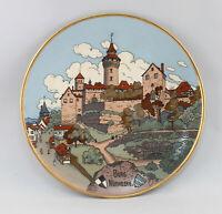 8645030 Großer Bildteller Mettlach Burg Nürnberg Jugendstil Villeroy&Boch