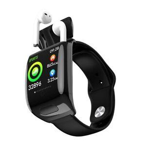 Smart Bracelet 2 in 1 Smart Watch TWS Wireless Bluetooth 5.0 Earphone HD Screen