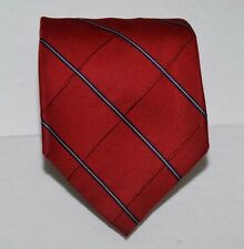 Tommy Hilfiger Classic Imported Silk Necktie Red Windowpane