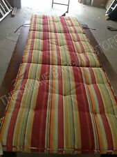 Pottery Barn Parker Multi Stripe Outdoor Folding Mat Cushion Bed Portable chaise