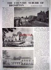 """The Country Suburb of BROMPTON"" - 1967 Magazine Article (3-Sided Cutting)"