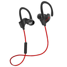 Sports Wireless Bluetooth Headphones HiFi Stereo w/Mic for Running Work Red