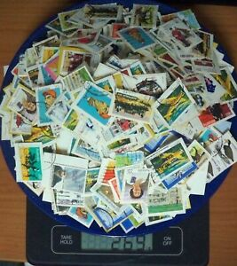 250g Australian Cancelled Stamps on Paper, 20c to 27c, Bulk Lot #1