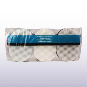 Multy 3 Oval Bath Sponges With Massage - Exfoliating,Bath,Shower-Colour Choice: