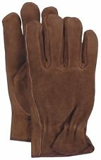 Boss Unlined Brown Split Leather Driver Work Gloves 4066L