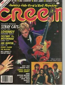 1983 Creem December - Robert Plant; Stray Cats; Loverboy; Robert Palmer; Guitars