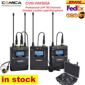 Comica CVM-WM300A Professional UHF 96Channels Wireless Lavalier Lapel Microphone