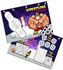 Pack of 12 - Wrestling Fun and Games Activity Sheets - Party Bag Books Fillers