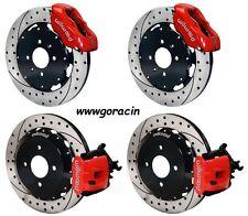 """Wilwood Disc Brake Kit,Honda Civic,Acura Integra 12"""" Drilled Rotors Red Calipers"""