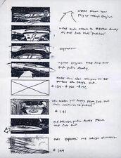 STAR TREK REPRO 1994 GENERATIONS STORYBOARD ARTWORK . KLINGON SHIP & ENTERPRISE