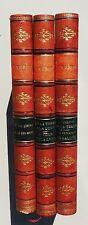 Jules VERNE. 3 volumes Hetzel. belles reliures dos cuir décoré, 5 nerfs.