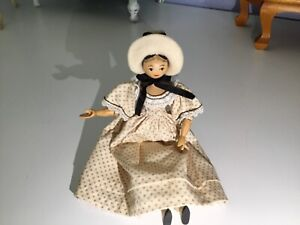 RARE SHERMAN SMITH 1962 Signed Peg Wooden Doll Angelita Carved ~Mint Condition ❤