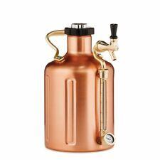 GrowlerWerks Ukeg 128 Oz Copper Plated Pressurized Growler Keeps Beer Cold Fresh