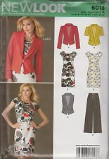 From UK Sewing Pattern Misses Jacket, Dress,Trousers, Vest Size 4 - 16 # 6013