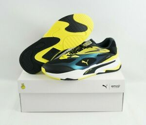 Puma RS Fast x Emoji 375374-0 Yellow Black Limited Edition Men's sz 10.5 Shoes