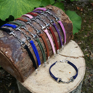 Snaffle Bit Bracelet suede Horse Equine Jewellery Gift Pony Riding