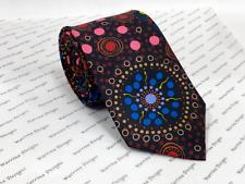 Warrina Designs 100% Silk Tie Authentic Aboriginal Design Art Dreamtime Flowers