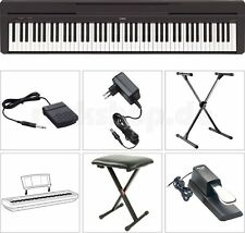 Yamaha P45 B Digital E-Piano Klavier SET mit X-Stativ Sitz Bank Sustain Pedal