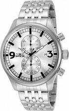 Invicta Specialty 0366 Men's Round Analog Chronograph Date Stainless Steel Watch