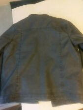 mens fur lined motorcycle style jacketSize large. Very warm and comfortable.