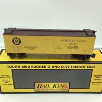 MTH Rail King Pennsylvania Yellow and Brown Semi-Scale Reefer RK-7809L O Scale