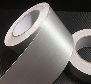 Decors Car Metal Brushed Steel Matte ALUMINUM Vinyl Tape Wrap Sticker Silver VL