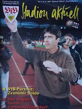 Programm 1996/97 VfB Stuttgart - Fortuna Düsseldorf