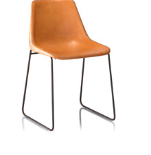 Office Decor Stainless Steel & Leather Seat Designer Chair For Home Decoration