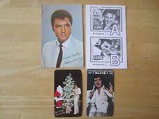 Elvis Presley Lot of (4) items: 1967 Postcard, 1978 & 1980 calendar,stamp ballot