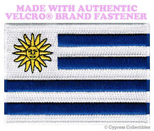 URUGUAY FLAG PATCH EMBROIDERED URUGUAYAN SOUVENIR new w/ VELCRO® Brand Fastener